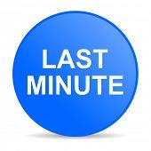 last minute internet blue icon