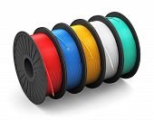 Spools with color electric power cables