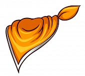 Illustration of a scarf on a white background