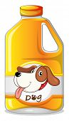 Illustration of a galon of dog soap on a white background