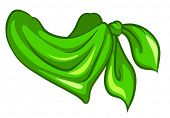Illustration of a green scarf on a white background