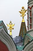 Golden Eagles National Emblem Of Russia In The Tower Peaks
