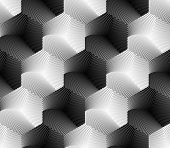Design Seamless Hexagon Geometric Pattern