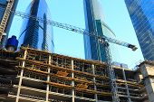 picture of formwork  - Formwork systems in use at a building site - JPG