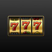 stock photo of slot-machine  - Vector illustration of 777  - JPG