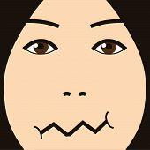 cartoon face expression joke
