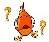 cartoon animal emotion fish forgot