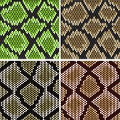stock photo of lizard skin  - Seamless background of green and grey snake skin patterns for fashion and wildlife design - JPG