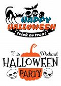 Halloween party banner and poster