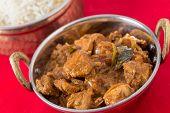 pic of kadai  - Chicken malabar curry in a traditional kadai or karahi bowl - JPG