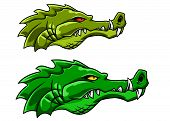 Crocodile or alligator mascot