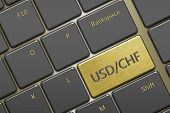 Computer Keyboard With Currency Pair:  Usd/chf Button