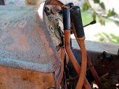 Dashboard Of Old Italian Crawler Tractor