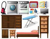 Illustration of many types of appliances