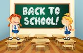 Illustration of a back to school sign