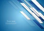 Blue shiny hi-tech elegant background. Vector design