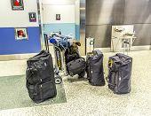 Baggage At Miami International Airport
