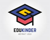 Abstract education vector logo template for branding and design