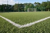 Green Turf Of Football Stadium