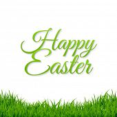Easter Grass Border With Gradient Mesh, Vector Illustration