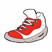retro comic book style cartoon sneaker