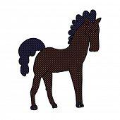 cartoon black stallion