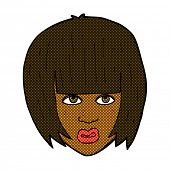 retro comic book style cartoon annoyed girl with big hair