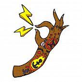 retro comic book style cartoon tattoo arm symbol