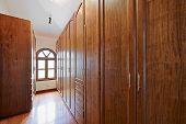 Interior design: Wooden closet
