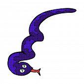 retro comic book style cartoon hissing snake
