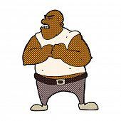 retro comic book style cartoon violent man