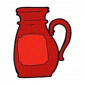 retro comic book style cartoon jug