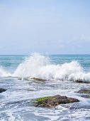 stock photo of tanah  - Amazing landscape at the Tanah Lot temple in Bali Indonesia - JPG