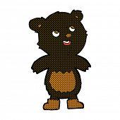 retro comic book style cartoon black bear