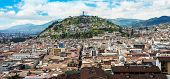image of andes  - Historical center of old town Quito in northern Ecuador in the Andes mountains - JPG