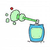 retro comic book style cartoon aerosol spray can