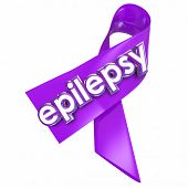 Epilepsy ribbon to raise awareness of the neurological condition or disorder causing seizures, hoping for a cure or better treatment