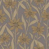 Graceful Vintage Seamless Floral Pattern
