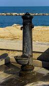 Characteristic old fountain of the promenade of Bari