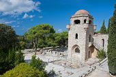 image of filerimos  - Church of our Lady at Ialyssos monastery on the Greek island of Rhodes - JPG