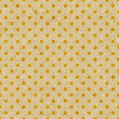Dot pattern on grunge old paper texture Seamless polka dot background.