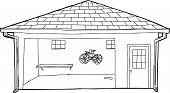 Outline Of Bike In Garage