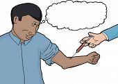 Calm Man Getting Blood Test