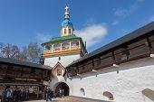 In The Pskovo-pechersky  Monastery On Easter