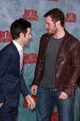 LOS ANGELES - FEB 18:  Adam Scott, Chris Pratt at the