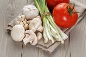 fresh organic vegetables for salad or something