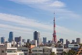 Tokyo Tower View From Roppongi Hill In Japan