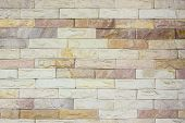foto of brownstone  - Close up modern brick wall  - JPG