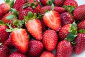 foto of strawberry  - Group of fresh delicious red Strawberries - JPG