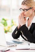 Businesswoman Praying.